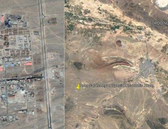 ifmat - Image shows location of Iran explosion in Salafchegan industrial town