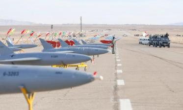 ifmat - Iran military holds first-ever drone drill 7