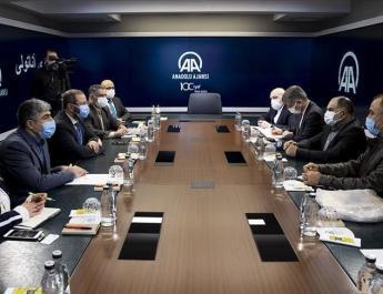 ifmat - Irans deputy press minister visits Anadolu Agency HQs