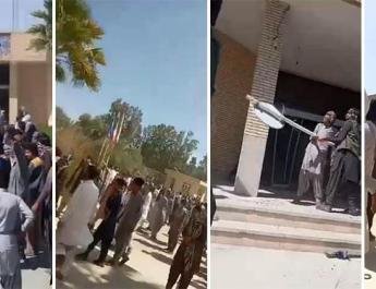ifmat - Angry locals storm Governor Office after IRGC kill residents in SE Iran