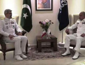 ifmat - Pakistan and Iran navy officials discuss cooperation