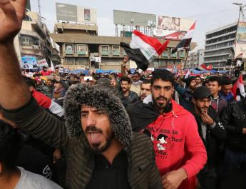 ifmat - Protesters in Baghdad chant against Iran-Backed militia as one dies