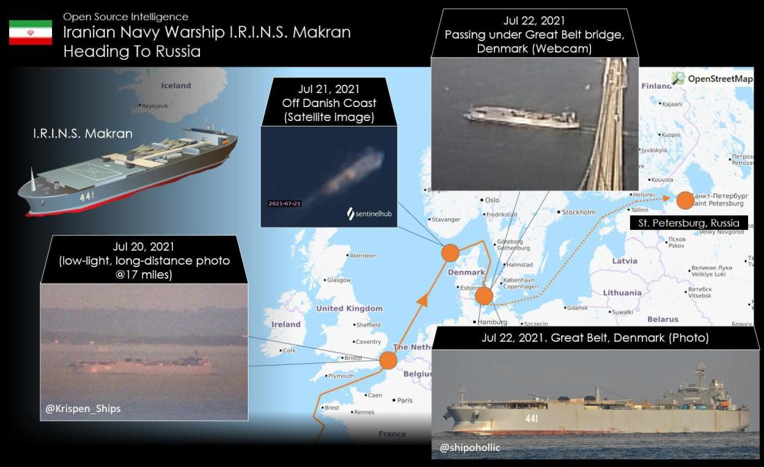 ifmat - Iran largest warship now in the Baltic Sea bound for Russia1