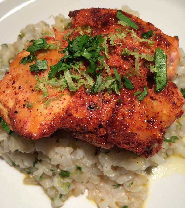 Tandoori Chicken with Cilantro Lime Brown Rice