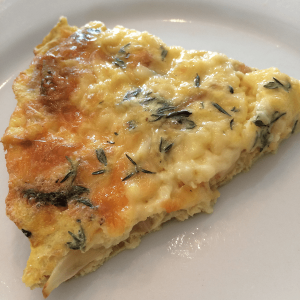 Caramelized Onion, Mushrooms and Gruyere Quiche