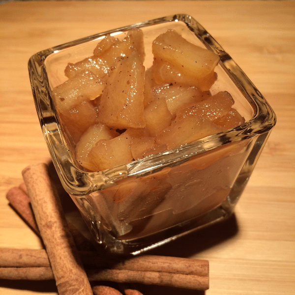 Spiced Apple and Rum Compote