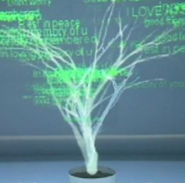 Art and Technology: holographic mourning tree