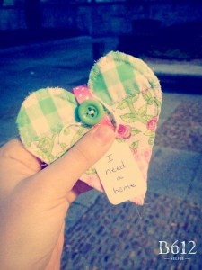 Pink and Green Heart X