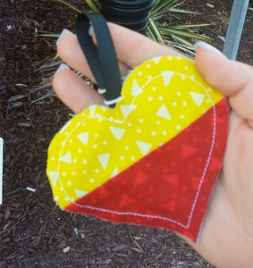 Red and yellow heart WX