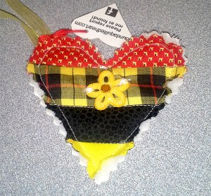 Red Yellow Black Heart WX