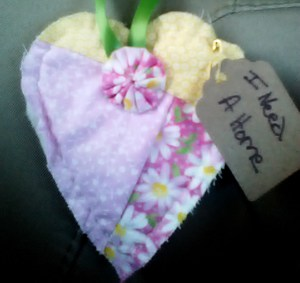 Yellow Pink Floral HEart WX
