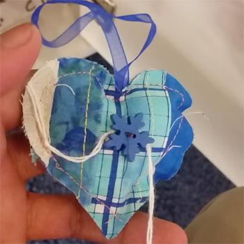Blue Snowflake Heart  WX
