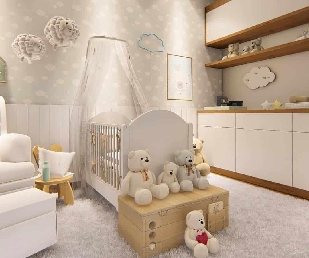 Guardar as fraldas do bebê em baús