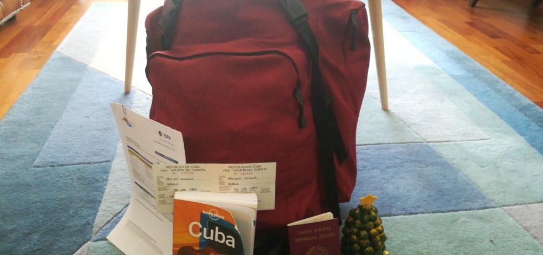Lo zaino e gli elementi essenziali per Cuba