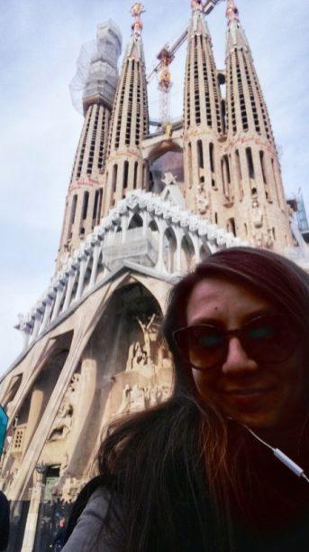 Autoscatto con la Sagrada Familia, magica Barcelona