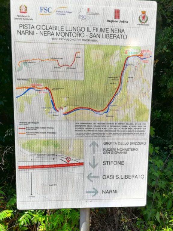 cartina per percorsi pedonali e in bicicletta stifone