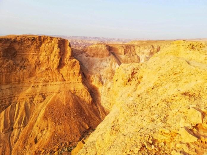 conformazioni di rocce a masada