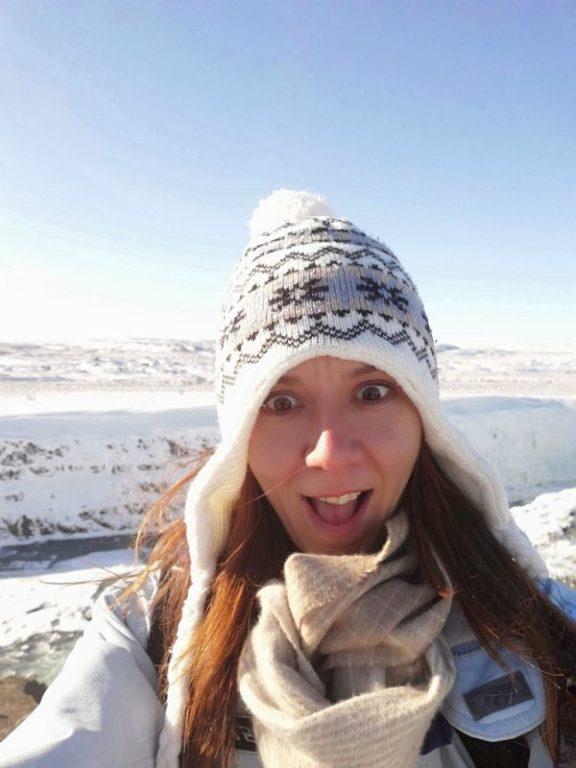selfie in islanda