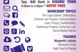 The Law and Internet in Kenya Kisumu Workshop