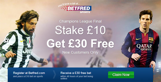 Betfred Champions League Betting
