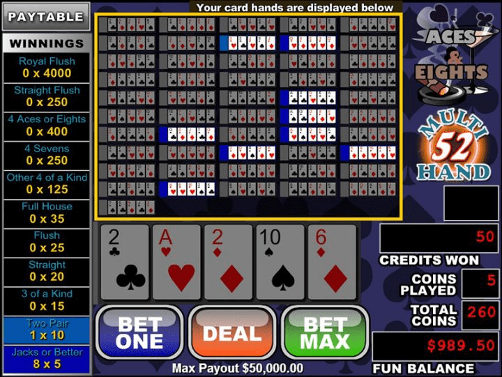 Aces and Eights Multi hand