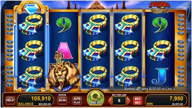 Pride of Egypt- Free spins