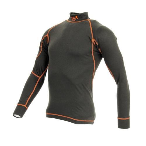 T-shirt FIA manches longues TURN ONE Pro noir/orange fluo
