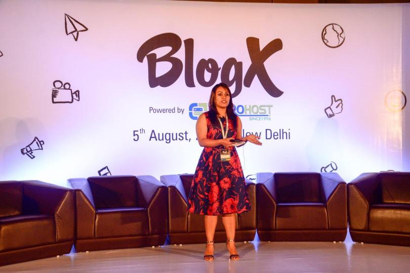 preet sandhu speaking at blogx