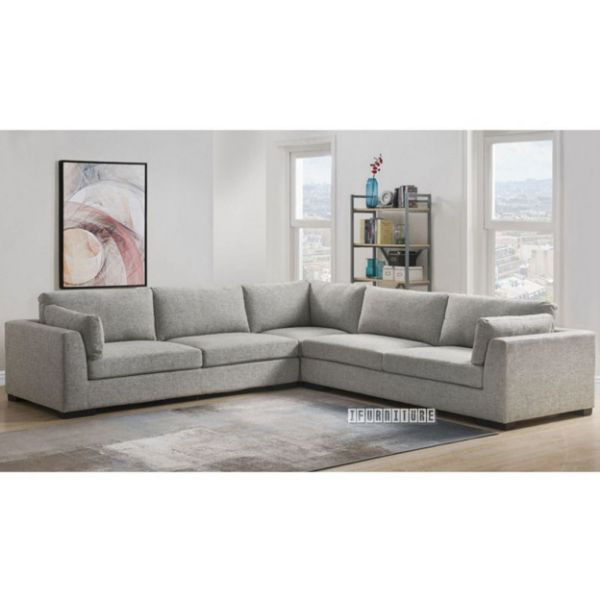 walcott l shape sectional sofa in light grey