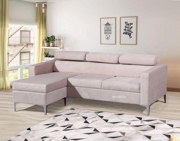amona reversible velvet sectional sofa