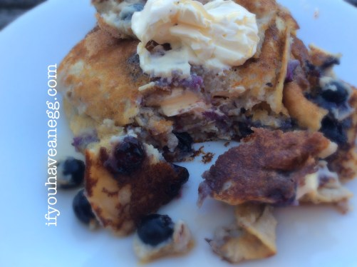 Blueberry Ricotta Flapjacks - 7PPV (add PP for any toppings)