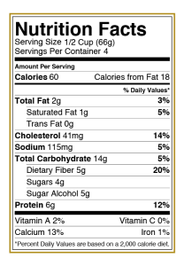 Halo Top Vanilla Bean Ice Cream Nutritional Information
