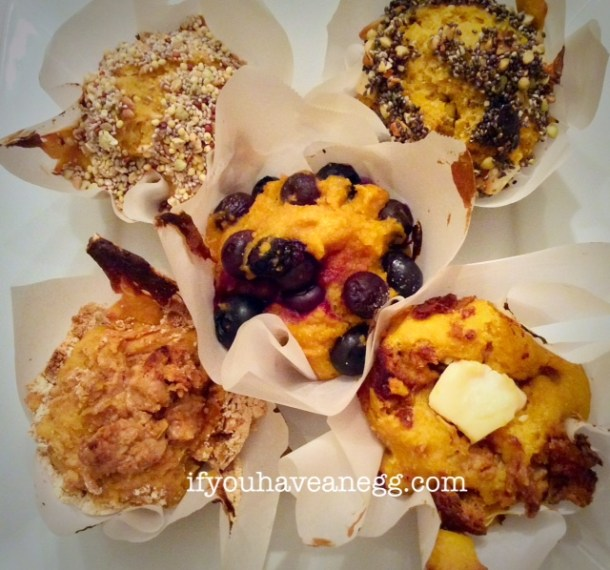 Assorted Protein Power Muffins - 3 and 4 Weight Watchers Points Plus per serving