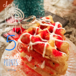 Cherry Poke Cake Waffles: 6 Weight Watchers Smart Points / 6 Points Plus