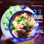 Shrimp & Grits Breakfast Bowl: 4 Smart Points