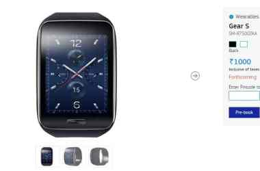 Samsung Gear S smartwatch pre-order started in India - 3