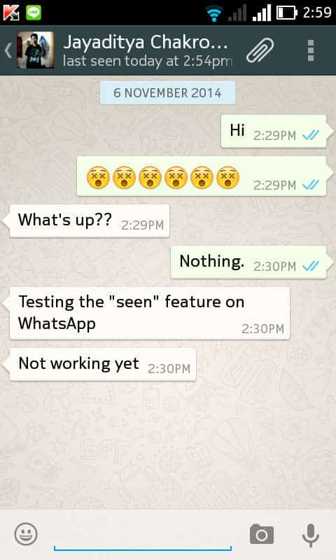 Finally WhatsApp tells you when your messages have been read - 1