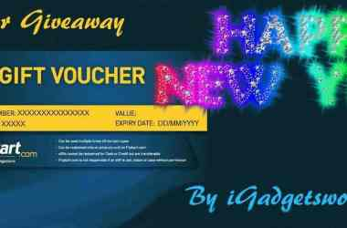 New Year Giveaway: Flipkart Gift Voucher, from iGadgetsworld [ENDED] - 3