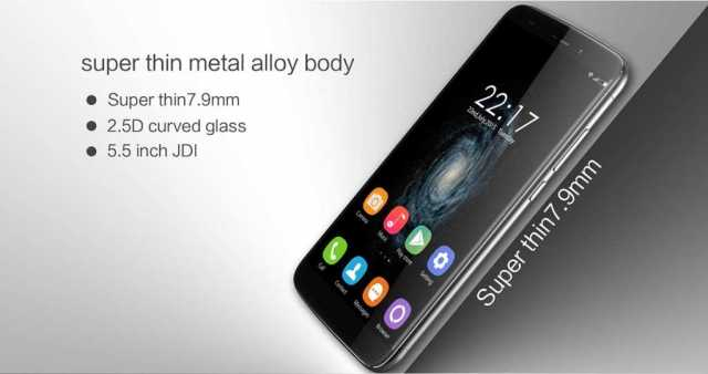 OukiTel U10 -super-thin-metal-body