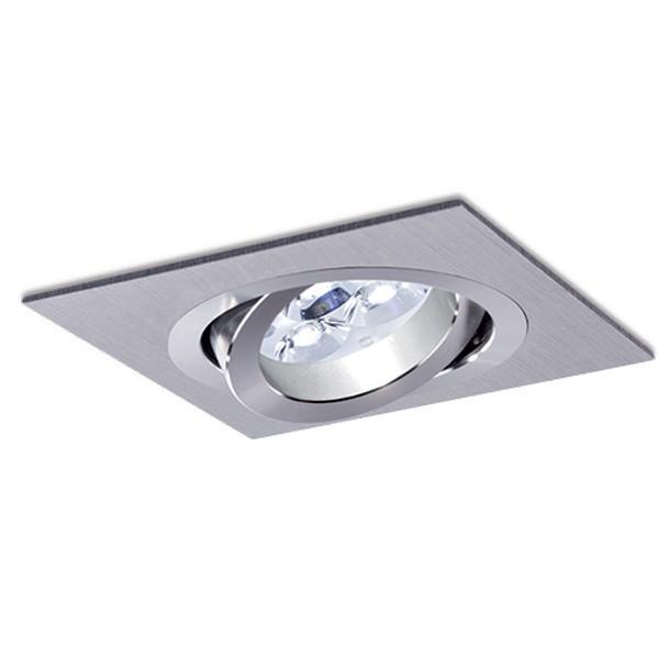 square recessed light led 8w aluminium