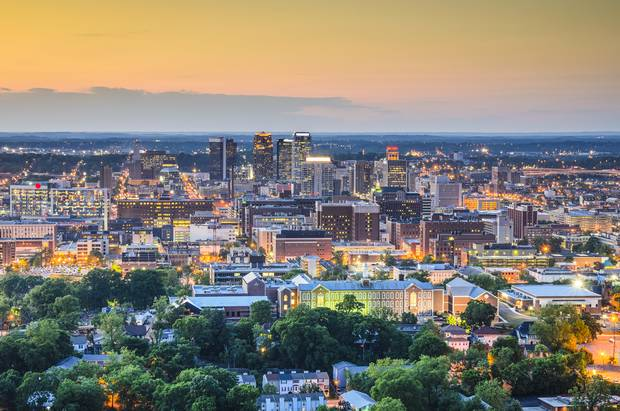 Birmingham, Ala., in the evening.