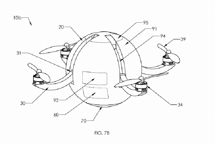 Sphere-type-Karma-drone-patent