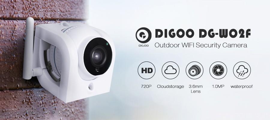 Digoo DG-W02f Cloud Storage 3.6mm Lens 720P Waterproof Outdoor WIFI Security IP