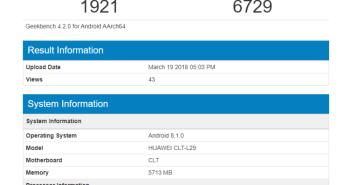 Huawei P20 Pro Geekbench