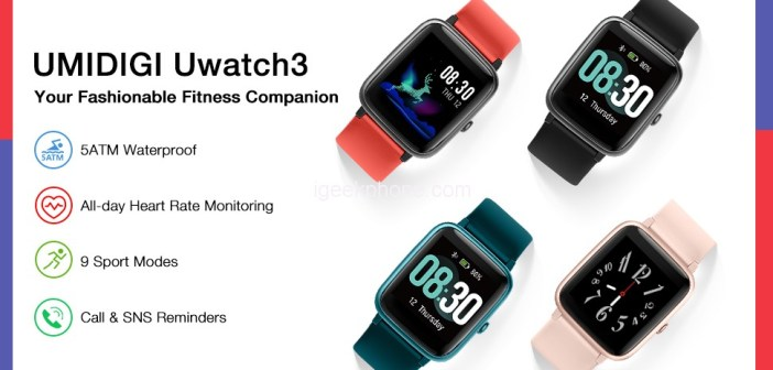 Grab the UMIDIGI Uwatch3 Smartwatch For Just $16 with Up To 60% OFF (Coupon)