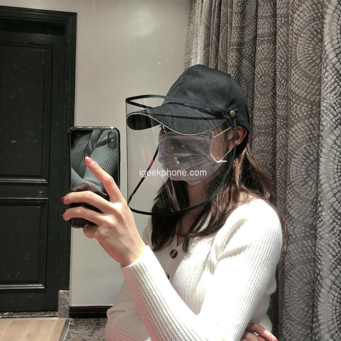 Household Anti-Droplet Hat Detachable Face Mask Features