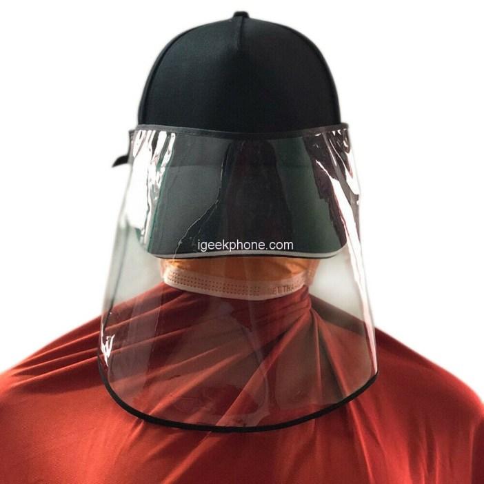 Household Anti-Droplet Hat Detachable Face Mask Design