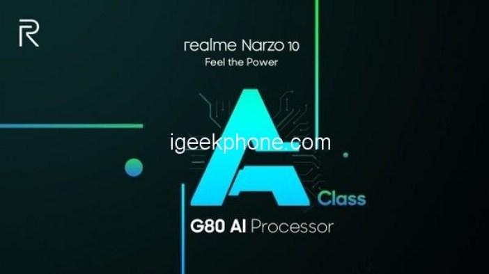 Realme Narzo 10 Helio G80 Chip
