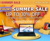 CHUWI AliExpress Summer Sale Gain Discount For Multiple New Products