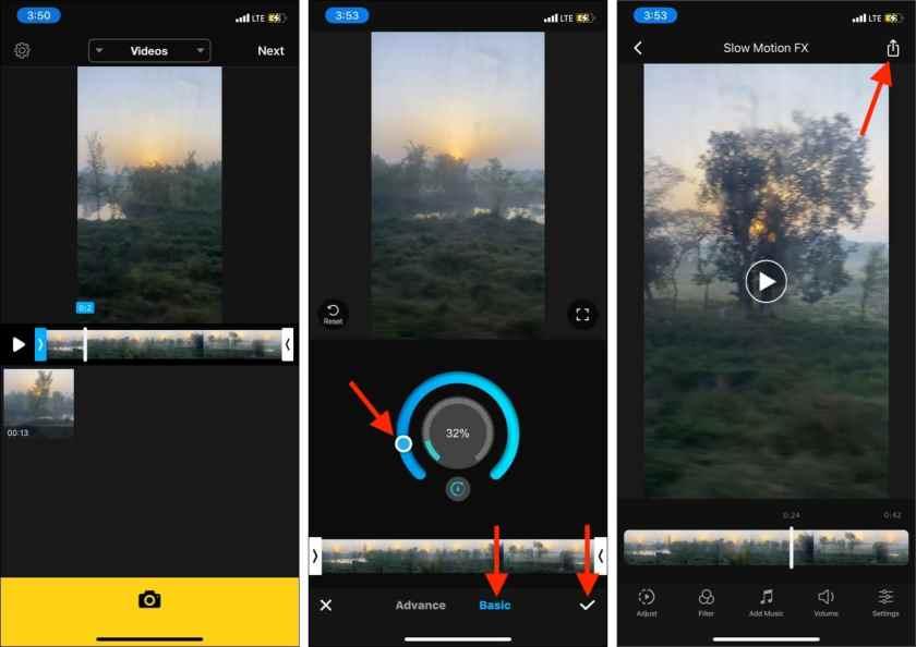 Самый простой способ использовать стороннее приложение для замедления видео